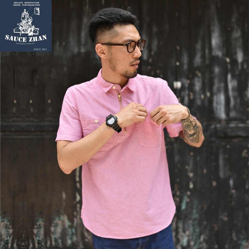 SauceZhan クラシックオックスフォードテキスタイル半袖シャツ男性シカゴ · カブスジャージシャツプラスサイズ半袖メンズシャツ