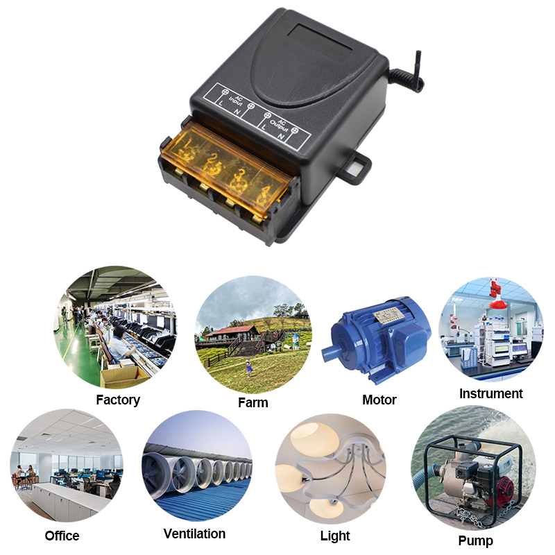 433Mhz Wireless RF Remote Control Switch AC 220V 1CH 30A Relay Receiver For Factory \ Farm\  Office\ Instrument\ Motor