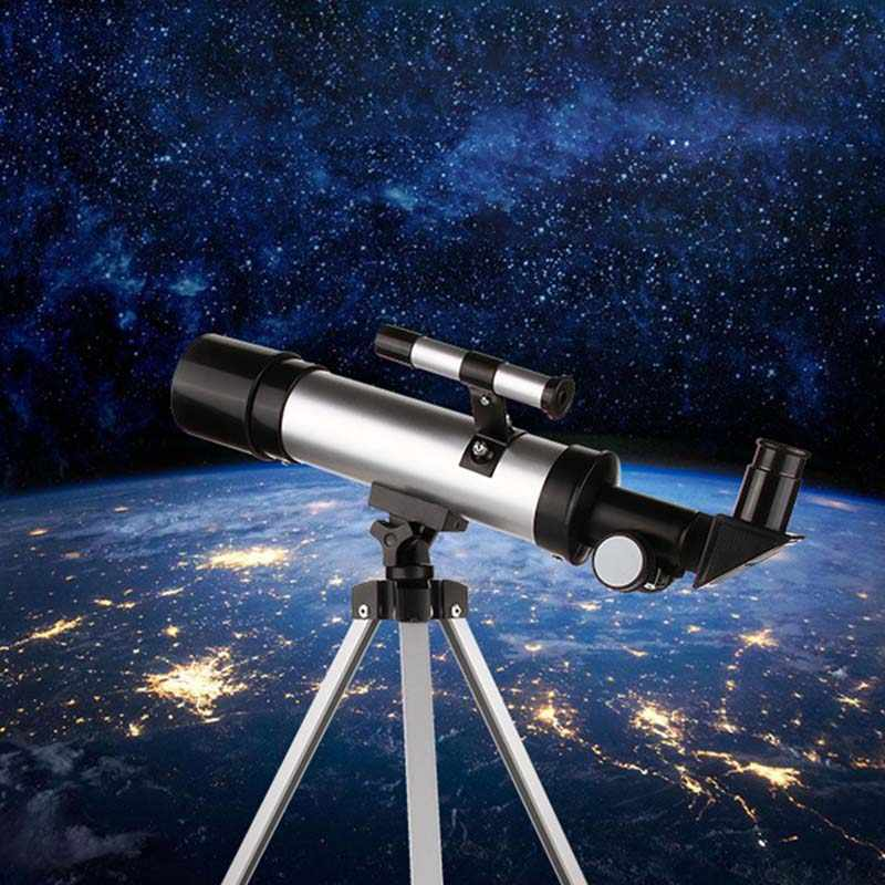 Télescope astronomique monoculaire F36050M extérieur à zoom puissant avec trépied basse Vision nocturne longue portée observation de la lune pour les enfants