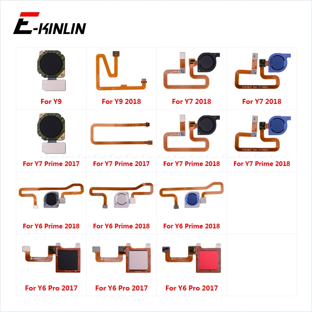 Touch ID Fingerprint Sensor Scanner Connector Flex Cable For HuaWei Y9 Y7 Y6 Prime Pro 2019 2018 2017 Back Home Button Key
