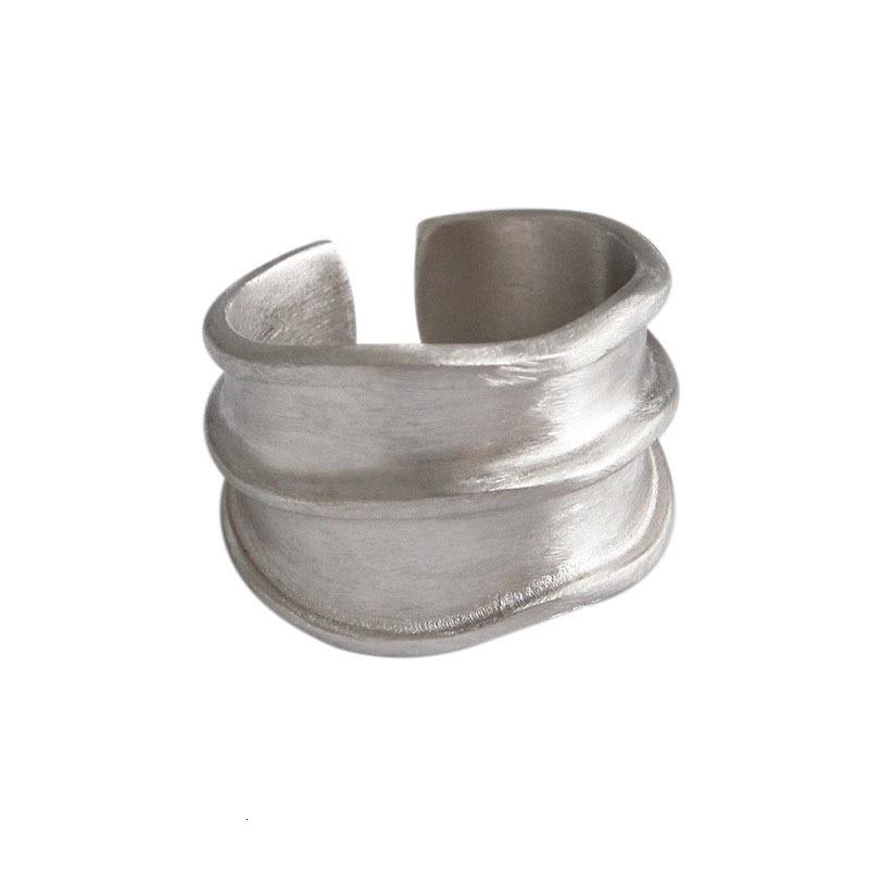 Image 5 - SSTEEL 925 Sterling Silver Rings For Women Lrregular Open Ring Anelli Argento Donna Bijoux Argent Massif Pour Femme JewelryRings   -