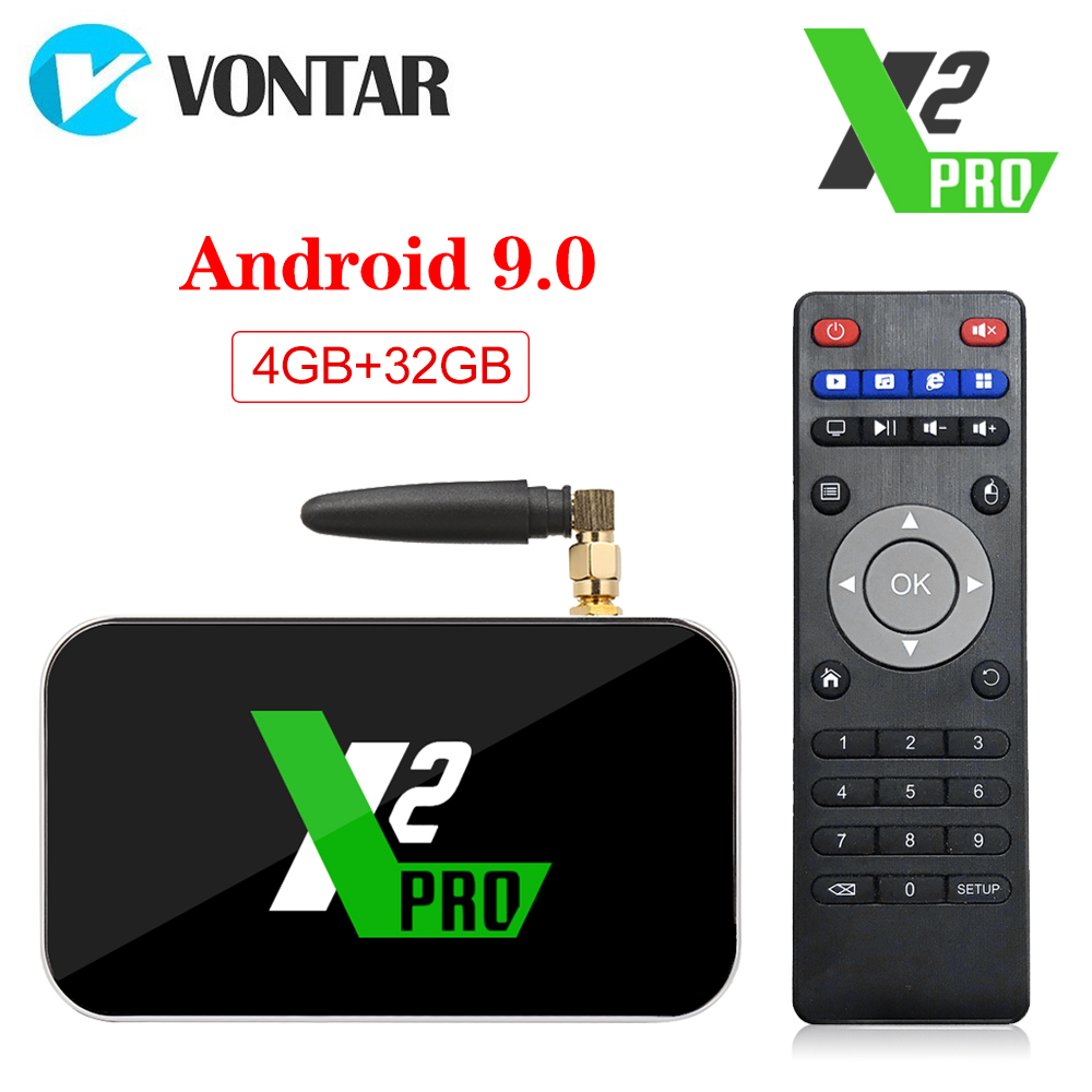 UGOOS X2 Pro Android 9.0 Smart TV Box 4GB RAM DDR4 32GB Amlogic S905X2 X2 Cube 2GB 16GB Set Top Box 2.4G/5G WiFi 1000M 4K AM6