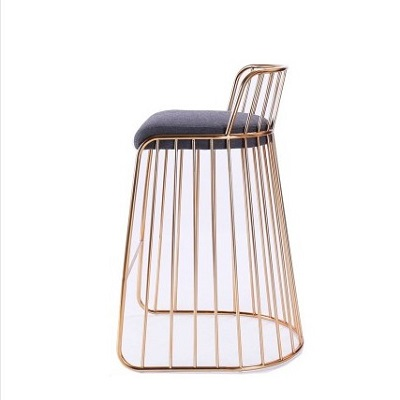 Nail Chair Net Red Back Nordic Dining  Tea Shop Dressing   Stool Cafe Leisure Iron