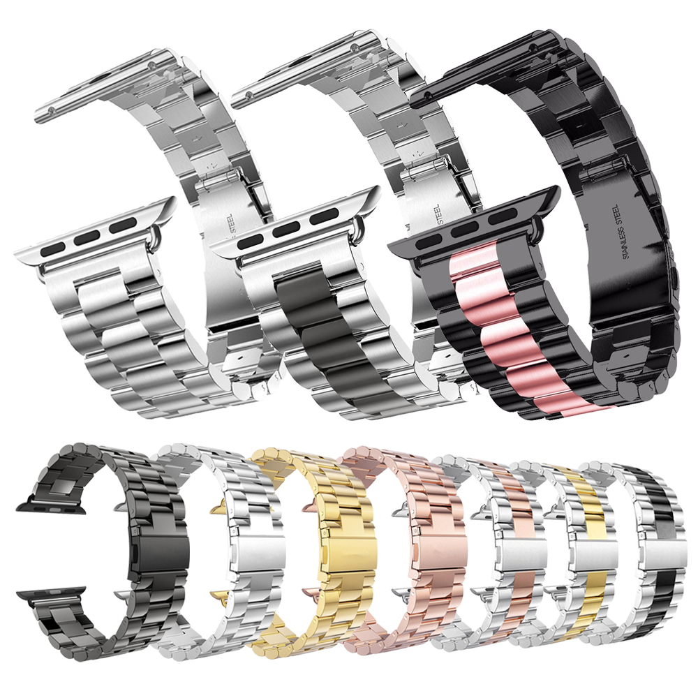 Metal Link Bracelet Band for Apple Watch 5 4 44mm 40mm iwatch series 1 2 3 42mm 38mm Milanese Watchband Stainless Steel Strap-in Smart Accessories from Consumer Electronics