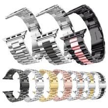 メタルリンクブレスレットバンド apple の腕時計 5 4 44 ミリメートル 40 ミリメートル iwatch シリーズ 1 2 3 42 ミリメートル 38 ミリメートル Milanese 時計バンドステンレス鋼ストラップ