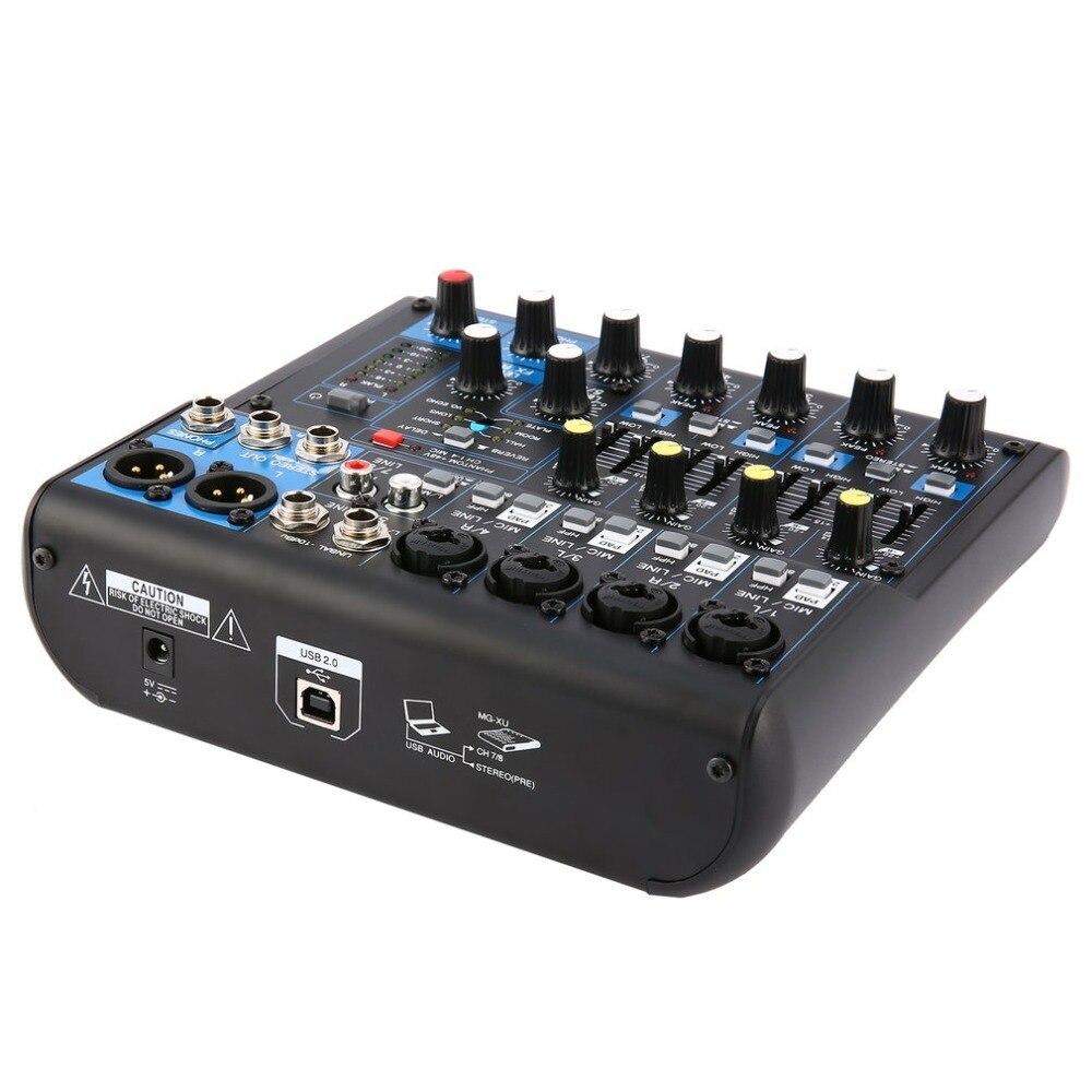 Power Audio DJ Mixer UNS Stecker 8 Kanal Professional Power Mischen Verstärker USB Slot 16DSP + 48V Phantom Power für Mikrofone
