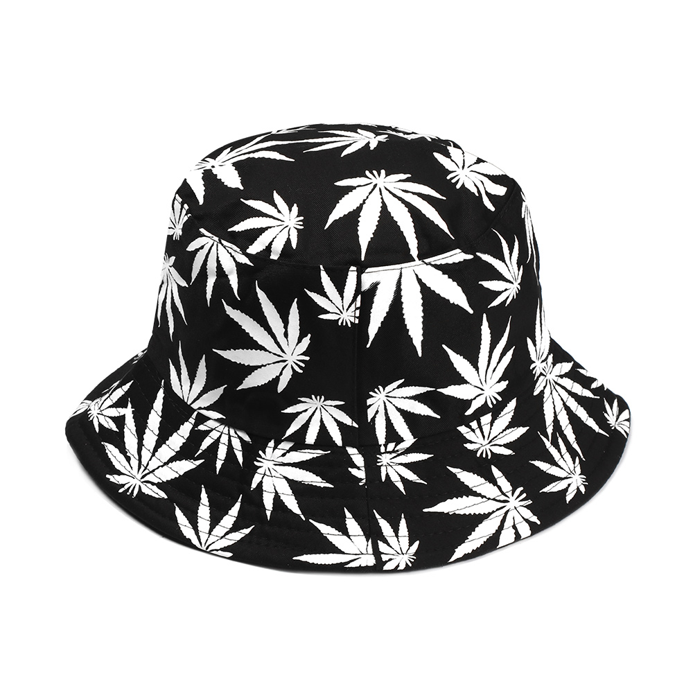 Summer Spring Women Men Couple Cotton Hat Hip Hop Cap Maple Leaf Panama Bucket Hat Sun Flat Top Fisherman Hats Boonie Gift