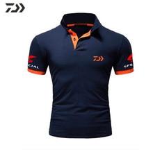 Daiwa vêtements de pêche t-shirt hommes respirant séchage rapide vêtements de pêche Sport de plein air hommes à manches courtes Polo t-shirt de pêche