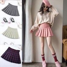 Pleated Skirt Short Under-It Girls High-Waist Fashion Women Summer Kawaii Sweet Female