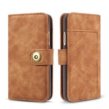 Genuine Leather & PU Case for Apple iPhone 5 5S SE Coque Removable Magnet Back Cover Fundas