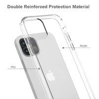 For iPhone 12 12Pro 12 Pro Max Case Hard PC Acrylic Clear Hybrid Crystal Phone Cover For iphone 12 Pro Max 12Pro Case 2020 Coque