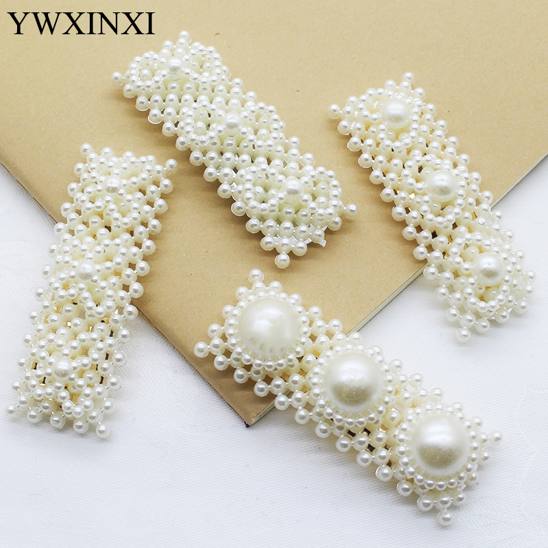 Beautiful Pearl Hair  Clip For Girl Elegant Lovely Design Snap Barrette Stick Hairpin Hair Styling Accessories 1pcs Batch