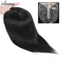Human Hair Topper Wig 10 12 14 For Women 12x14 inches T Style Middle Part Clip In Hair Toupee Remy Natural Hair Piece