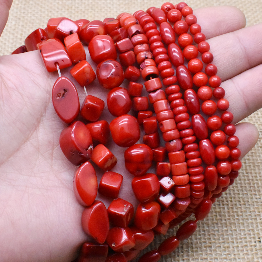 Red Sea Coral Bead Necklace