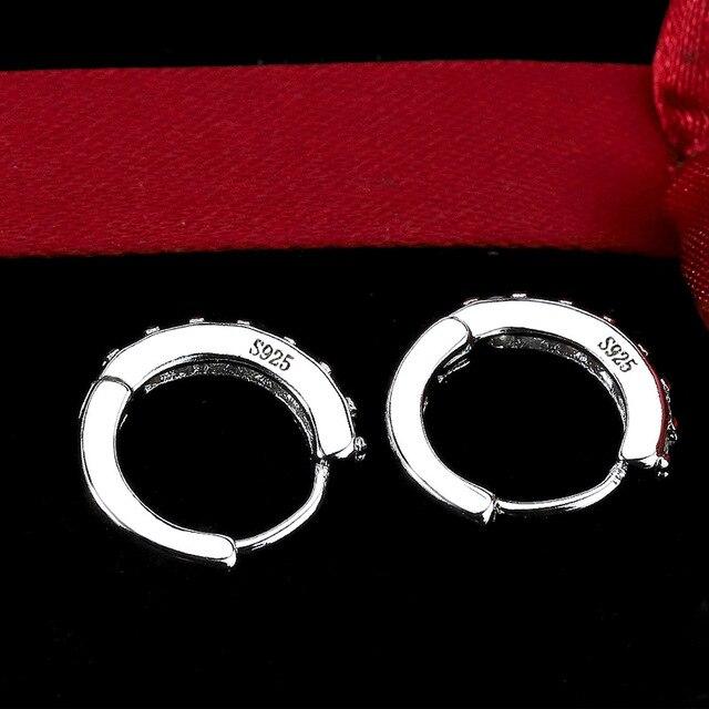 Купить женские серьги кольца chyvenee классические круглые серьги серебряного картинки цена
