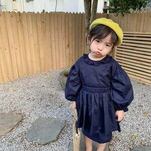 Image 1 - Ensembles de vêtements de princesse à manches longues avec mini jupe en coton de style coréen, à la mode, pour bébés filles, printemps nouveauté