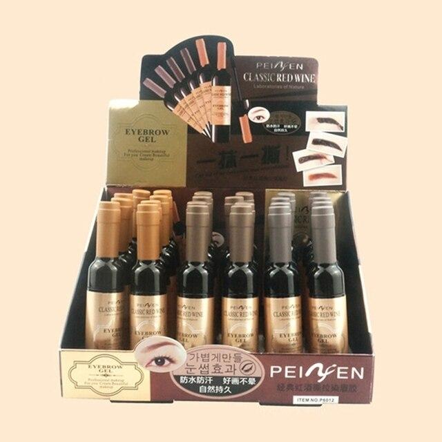 Classic  Eyebrow Gel Cream  Red Wine Tearing Eyebrow Gel Dyeing Eyebrow Cream Waterproof Anti-staining Lasting Makeup Enhancer 5