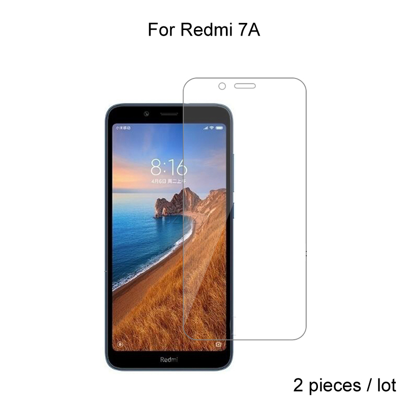 2pcs For Xiaomi Redmi 7A Redmi7a Premium 2.5D 0.26mm Tempered Glass Screen Protector For Xiaomi Redmi 7A Protective Glass