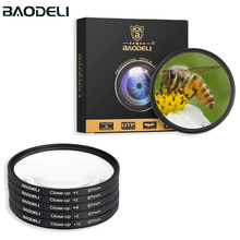 BAODELI makro yakın filtre 49 52 55 58 67 72 77 82 Mm kamera Canon için lensi Eos M50 600d Nikon D3200 D3500 D5600 Sony A6000