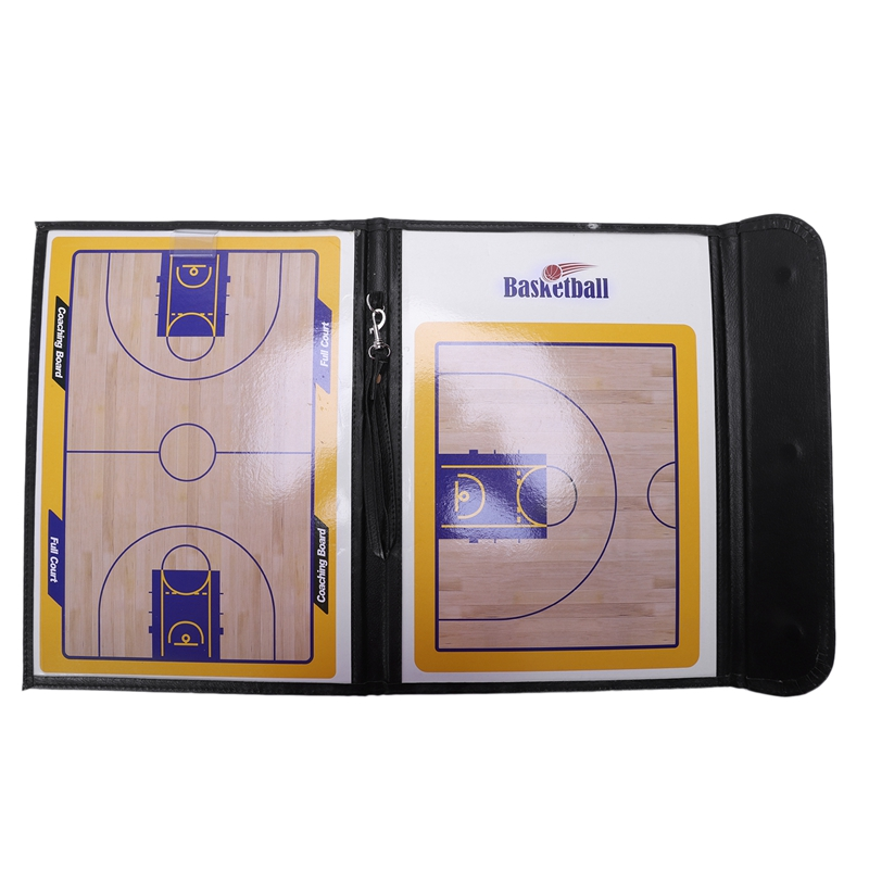 Magnetic Basketball Tactic Board Tri-Fold Coach Teaching Board With Magnetic Stylus