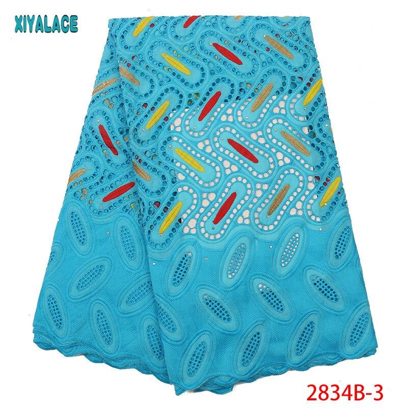 Soft Cotton Lace Fabric High Quality African Swiss Cotton Lace Fabric Embroidery Pink African Women Lace Fabric YA2834B-3