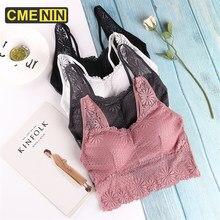 Cmenin sutiãs para mulheres topo de renda sexy sutiã feminino push up algodão lingerie sutiã sem alças de algodão bralette b0189