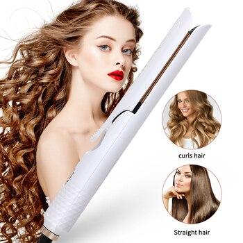 Professional hair straightener curler flat iron curls straightening irons fast straight iron styler hair curling straightener loof jr 198 1 mini hair styler straightener pink