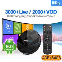 IP TV UK Germany Italy Spain IPTV Sweden IUDTV HK1 MINI+ Android 9.0 4G+64G BT Dual-Band WIFI Italia Code