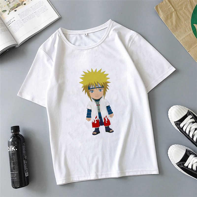 Showtly 2020 Fashion Lucu Naruto Boruto T Shirt Pria/Wanita/Lengan Pendek Uchiha Itachi Sasuke Jepang Anime Tees top Tshirt