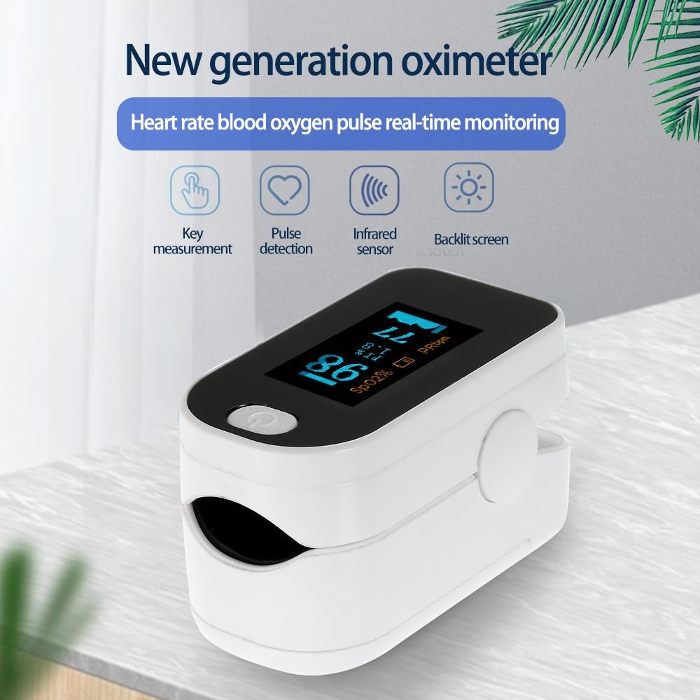 Digital Fingertip Pulse Oximeter OLED Display Blood Oxygen Sensor Saturation SpO2 Monitor Pulse Rate Measurement Meter 2020 New