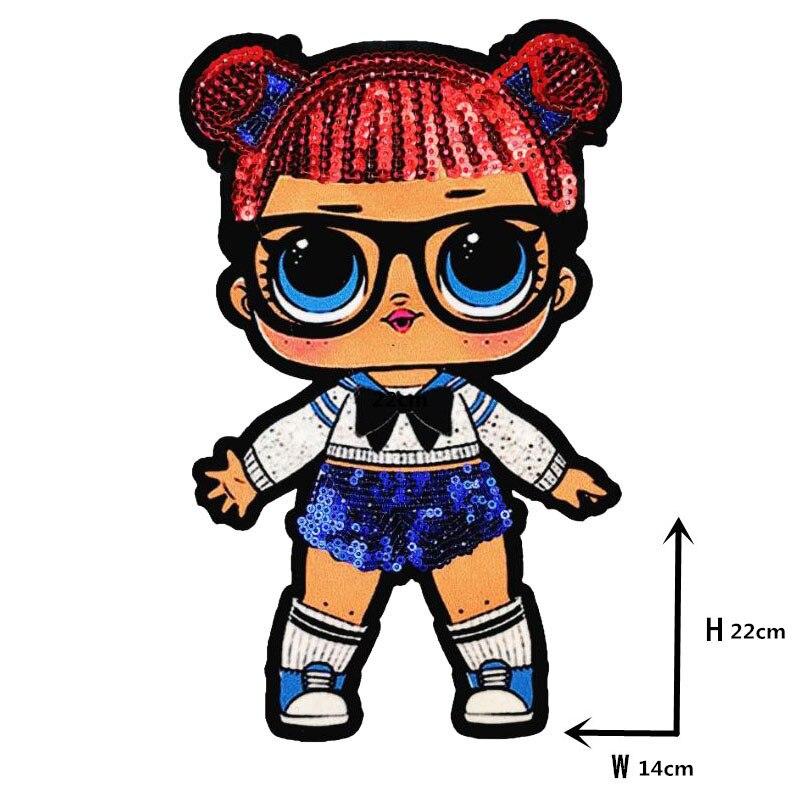 Мультяшные нашивки женские модные куклы лол для девочек Милая Модная Кукла-мальчик вышивка на одежду ручная работа украшение одежды Блестки Ткань - Цвет: WW-8