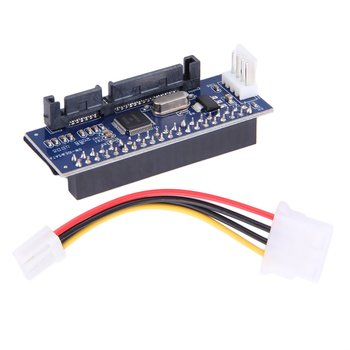 цена на 3.5 HDD IDE/PATA to SATA Converter Card Adapter For IDE 40-pin HardDrive Disk DVD Burner to SATA 7pin Data Motherboard Cable