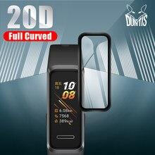 20d borda curvada película protetora para huawei banda 3e 4 4e 4 pro b5 sentido protetor de tela macia relógio inteligente acessórios (não vidro