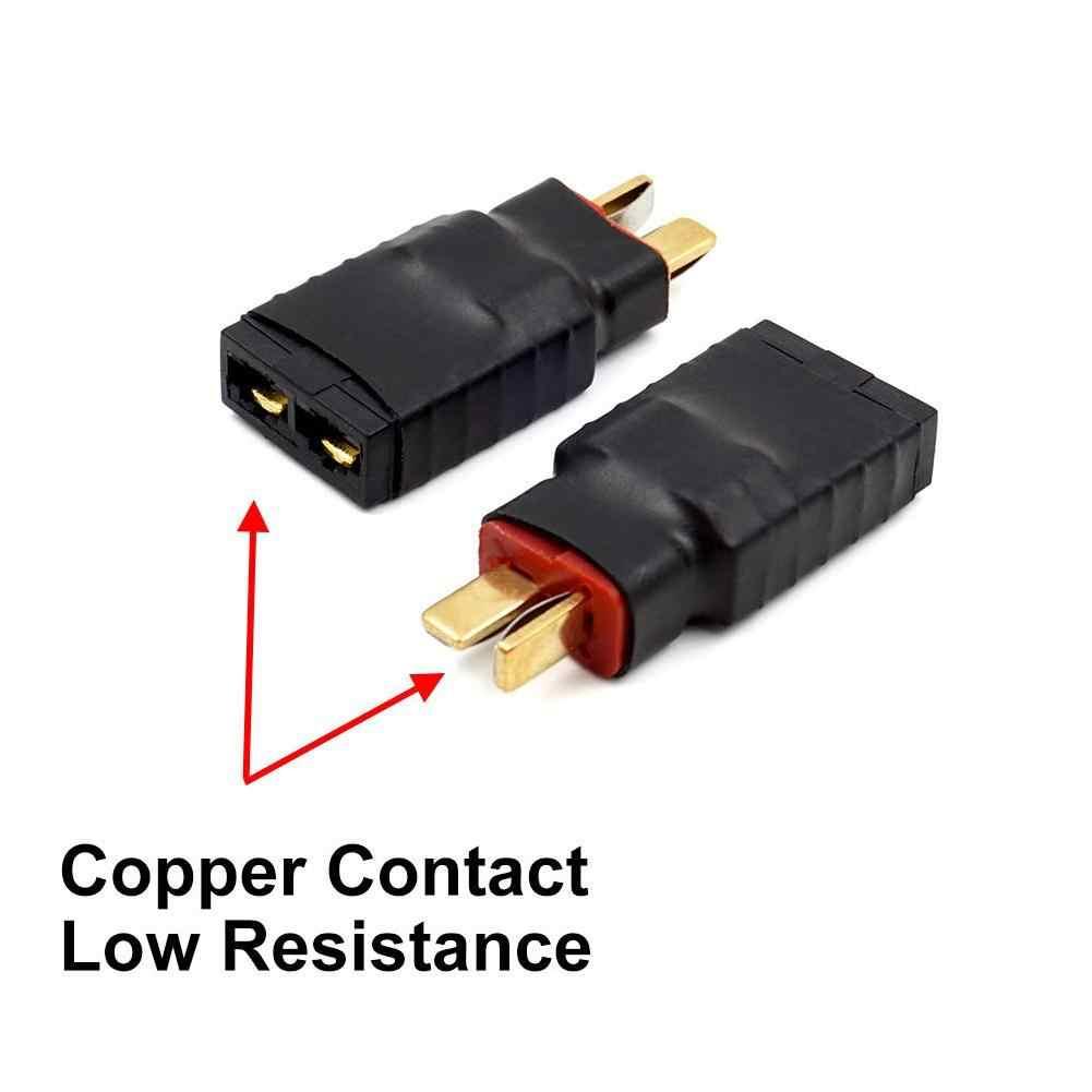 1 adet erkek t-tak dekanlar kadın TRXed Traxxas konnektör adaptörü için RC pil ESC ve şarj cihazı