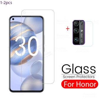 Перейти на Алиэкспресс и купить Защитное стекло для huawei honor 30, Защитное стекло для камеры huawei honor 30, Защитное стекло для honer xonor 30, для honor 30, экран 6,53 дюйма, с функцией защиты от ...
