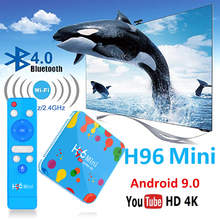 set top box 4GB 128GB H96 Mini Android 9.0 TV Box Allwinner H6 Quad Core 6K H.265 Wifi Bluetooth HD Youtube