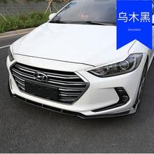 For hyundai Elantra 2016 2017 2018 ABS Chrome front bumper lip anti-scratch Accessories