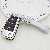 Car key case for audi a3 8p 8v a4 b8 b7 b5 b9 a5 a1 q7 q5 a6 4f c6 c5 c7 c4 tt q3 s3 a7 a8 100 c4 tt 8n holder shell auto cover|Key Case for Car|   -