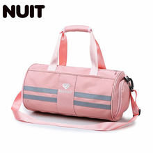 Women Fashion Nylon Travelling Bag Female Casual Tote Duffel Bags Travel Carry On Luggage Girls Striped