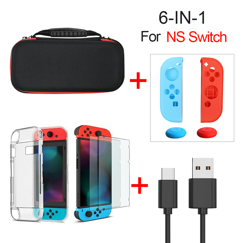 Durable Travel Carry Case Compatible For NS Nintend Switch Accessories Protective Hard Shell Portable Bag For Switch Console