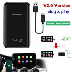 Carlinkit Apple CarPlay IOS 13 2.0 USB Update Wireless Auto Connect for Car OEM Original Wired CarPlay To Wireless Carplay Black