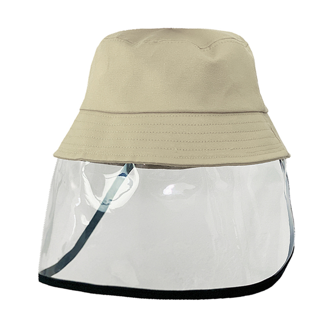 Kids Anti-spitting Clear Face Shield bucket hat  Protective Hat Cap Peaked Cover Safety Unisex Anti-saliva Face Cover Cap 2
