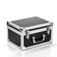 37x28x21cm Thickened portable aluminum alloy toolbox instrument case display box equipment box file storage box