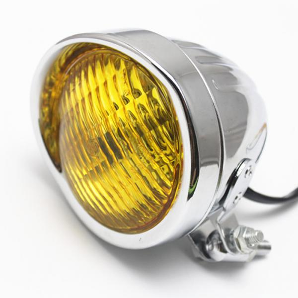 Motorcycle Head Light Lamp For  Bobber Chopper Softail  Amber