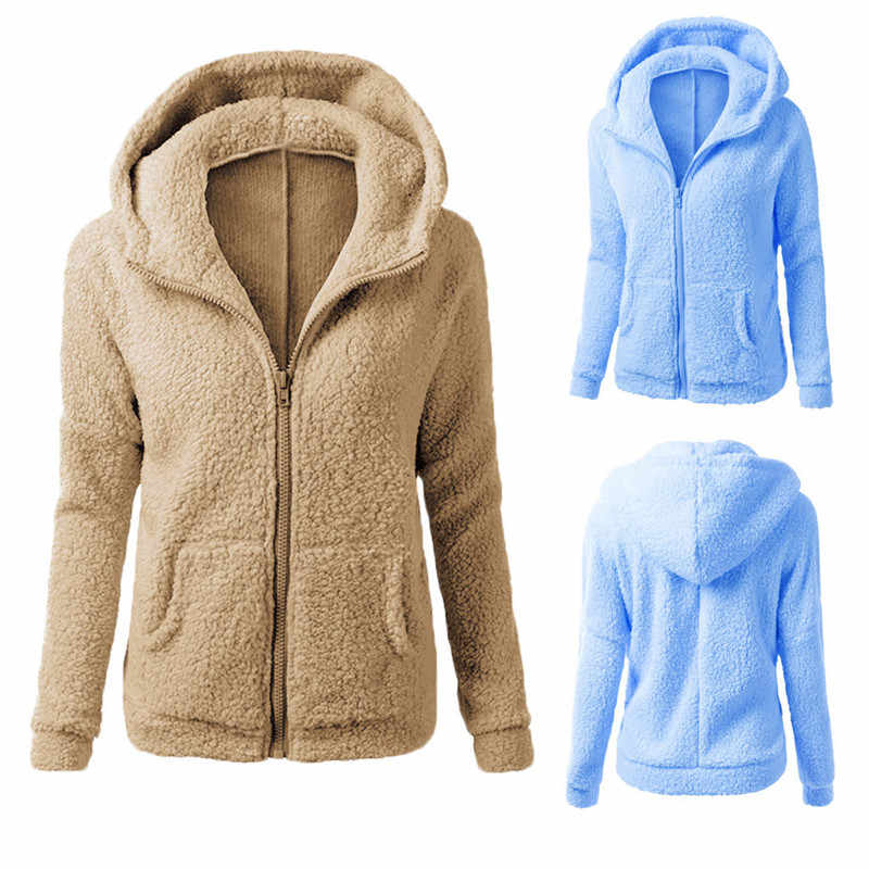 Wanita Mewah Mantel Jaket Ukuran 2019 Hot Parka Wanita Berkerudung Sweter Mantel Musim Gugur Musim Dingin Hangat Wol Mantel Ritsleting Kapas mantel Lebih Tahan Dr