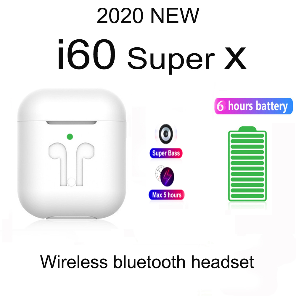 2020 new i60 <font><b>Super</b></font> X wireless Bluetooth headset for Apple, Android, Samsung, Xiaomi, Huawei PK i7 V8 i9 i11 i12 i14 <font><b>tws</b></font> i18 <font><b>i30</b></font> image