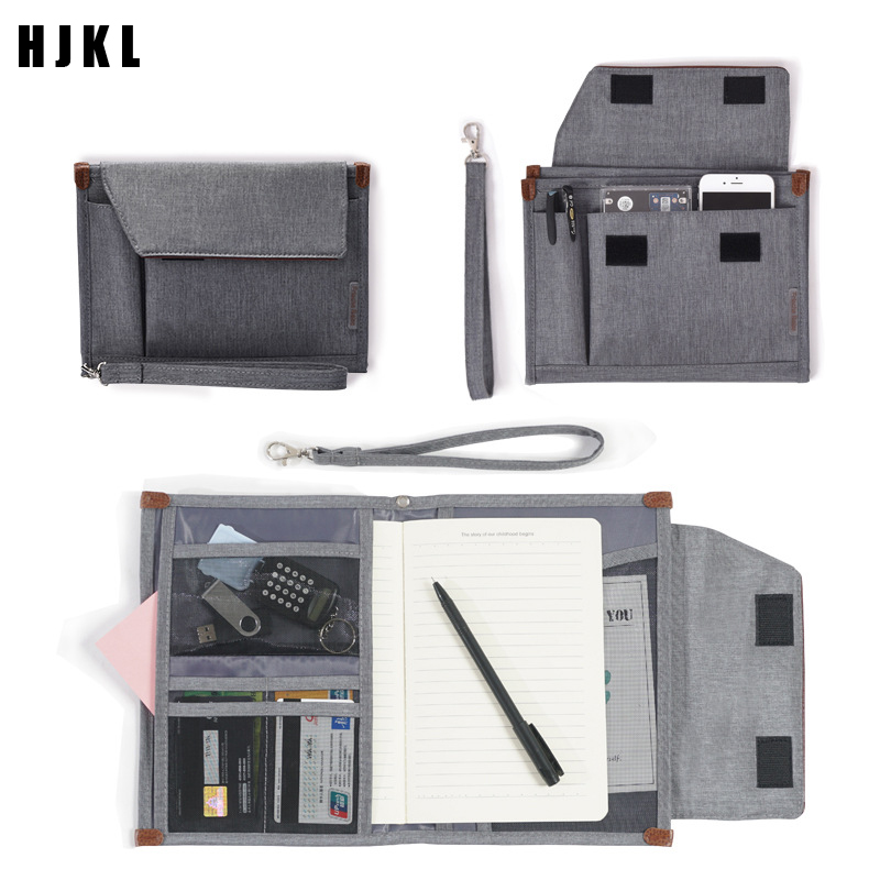 Travel AccessoriesTravel Portable Briefcase Waterproof Oxford Business Multi-Layer Document Certificate Bag Mens Large Passport