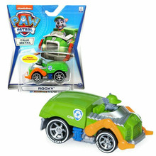 Paw patrol birthday toy set anime character Rocky action figure alloy model puppy patrol rescue car children birthday gift