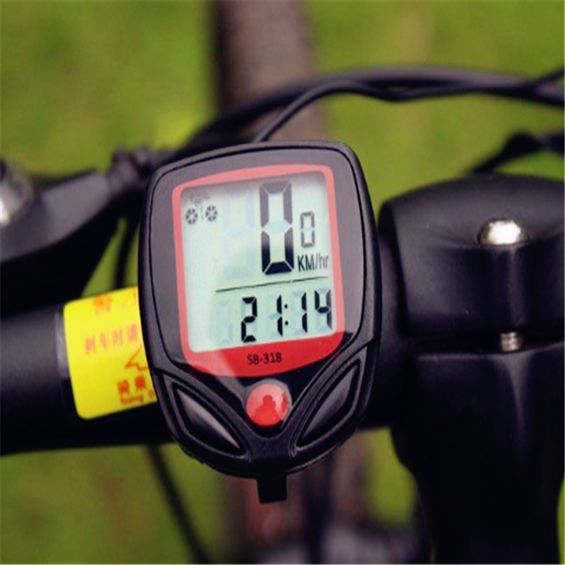 Bike Computer With LCD Digital Display Waterproof Bicycle Odometer Speedometer Cycling Stopwatch Riding Accessories Tool
