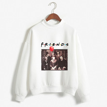Halloween Hoodies Horror Friends Womens Clothing Gothic 2019 Hoodie Women Print Pullovers Oversized Sweatshirts Pink Love